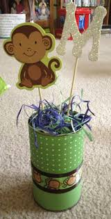 homemade monkey baby shower decorations