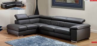 adjustable sectional sofa dark grey leather modern sectional sofa w adjustable headrests