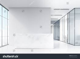 glass walls office hall panoramic windows glass walls stock illustration