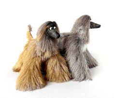 afghan hound blonde collectibles animals afghan hound cute plush toy stuffed