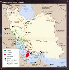 Isfahan On World Map by National Iranian Oil Company Operations
