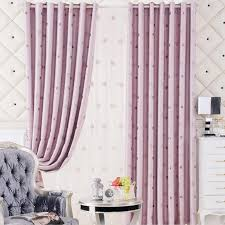 Pink And Purple Curtains Pink Purple Jacquard Polyester Living Room Curtains