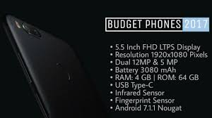 top 5 best budget smartphones 2017 youtube