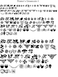 printer s ornaments 1 font
