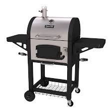 Backyard Charcoal Grill by Shop Dyna Glo 22 5 In Black And Stainless Steel Barrel Charcoal