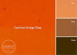 orange and color artist grade oil colors gamblin artists colors