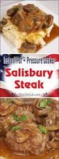 mushroom gravy its not easy pressure cooker salisbury steak w onion mushroom gravy this old gal