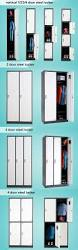metal storage cabinet in steel with drawer and inserts double door