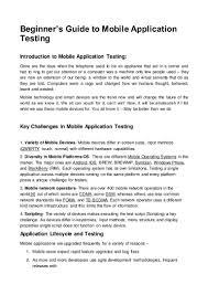 Machine Operator Job Description Mobile Application Testing Job Description Resume Sample