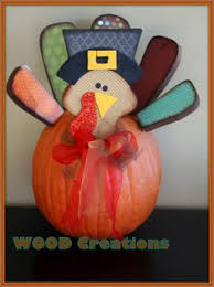 wood turkey parts for pumpkins into thanksgiving turkeys