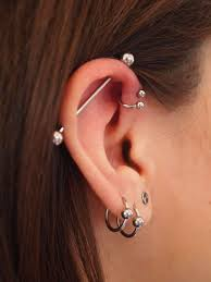 bar cartilage earrings 102 best bar percin images on necklaces piercing