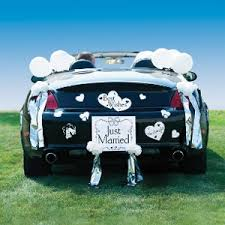 car decorations just married car decorating kit decorations and supplies
