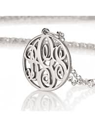 monogram necklace silver personalized gold monogram jewelry sterling silver monogrammed