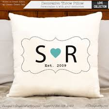 2nd anniversary gift ideas for 2nd anniversary cotton gift personalized gift custom initial