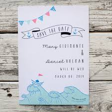nautical save the date rustic wedding save the date card nautical illustrated casual