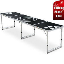 aluminum ping pong table 8ft lava beer pong table with black aluminum frame ebay