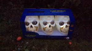 halloween animated skull garden lights youtube