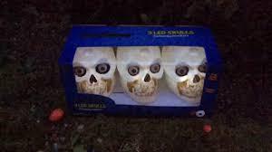 Halloween Skull Lights by Halloween Animated Skull Garden Lights Youtube
