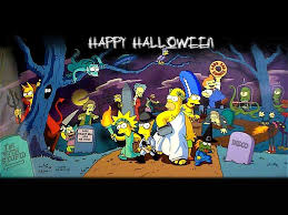 romantic halloween background wallpapers simpsons halloween wallpaper of the springfield