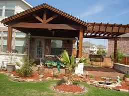 Creative Backyard Creative Backyard Patio Ideas With Small Red Land Garden Beside