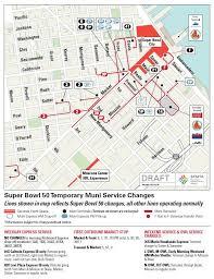 san francisco map downtown bowl 50 temporary muni changes in fidi soma sfmta