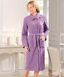 robe de chambre damart robe de chambre en molleton polaire 105 cm marine femme damart