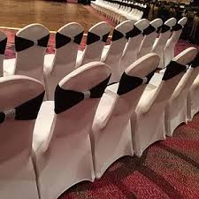 black and white chair covers 1 chair cover rentals dallas tx black white ivory 0 50 sashes