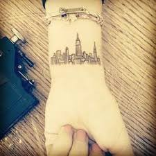 heartbeat city tattoo my firsts tattoo what new york city skyline with a splash of color