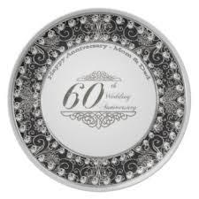 60th anniversary plates custom wedding anniversary plates