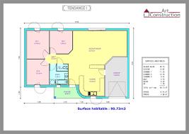 plan maison contemporaine plain pied 3 chambres plan maison 80m2 plein pied plan maison 2 chambres charmant 80m2 1