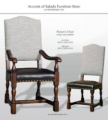 dining chairs old world parson u0027s collection linen u0026 leather