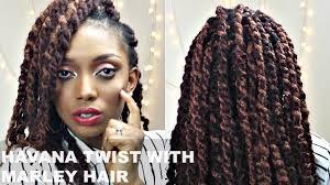 twist using marley hair havana twists with marley hair tutorial short natural hair youtube