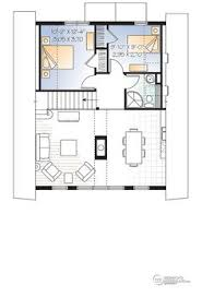 Open Floor Layout Home Plans W3938 A Frame Wood Cabin House Plan With Mezzanine And Open