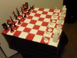 duct tape chess board and chess set 9 steps