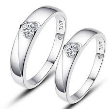 heart fashion rings images Solid silver simple heart fashion 925 silver couple rings couple jpg
