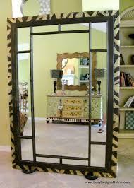 dremel carved zebra pattern on 6 foot wood leaner mirror frame