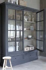 large display cabinet with glass doors 5 ways to transform your home with dark woodwork painted buffet
