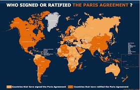 Paris World Map by Paris Agreement
