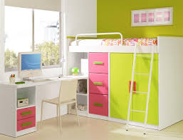 Loft Bed With Desk White by Baby Nursery Wooden Kid Loft Bed Set For Bedroom Interior With