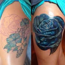 simple big detailed black ink rose tattoo on arm tattooimages biz