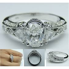 vintage oval engagement rings vintage oval engagement ring polyvore