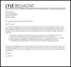 Hotel Manager Sample Resume by Hotel Manager Cover Letter Sample Livecareer