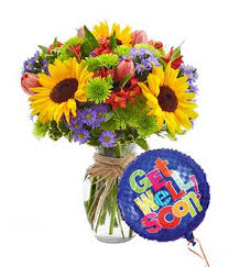 mixed floral celebration get well bouquet at from you flowers