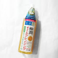 review hada labo gokujyun cleansing oil