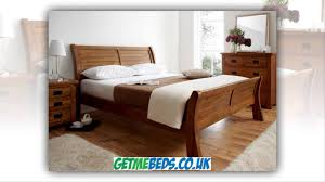 Oak Sleigh Bed Normandy Oak Sleigh Bed Wooden Beds