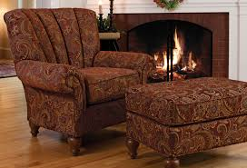 furniture overstuffed chairs with area fireplace design and brown