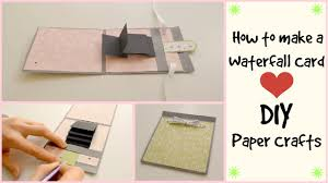 tutorial scrapbook card how to make a waterfall card diy crafts scrapbooking tutorial