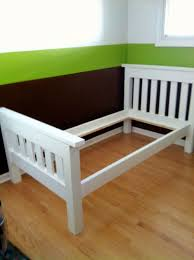 Bed Frame Simple Ana White Finished The Simple Bed Twin Diy Projects