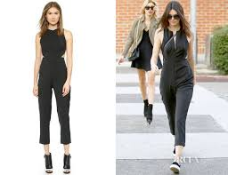 kendall jenner jumpsuit kendall jenner s aq aq chromide jumpsuit carpet fashion awards