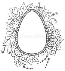 easter doodle egg with floral ornament stock vector image 51217361